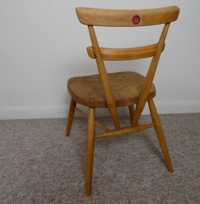 Vintage Ercol Red Dot Child Stacking Chair,  Blonde 1960's Mid Century No.463