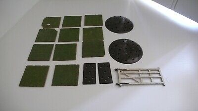 Britains Collection of Lead Garden Lawn, Round and Small Flower Beds, Gate