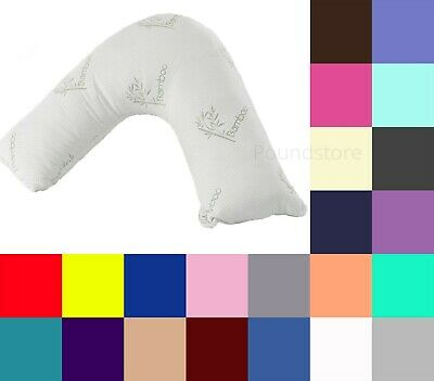 Memory Foam V Shaped Pillow Firm Support Pillow with Free Pillow Case UK