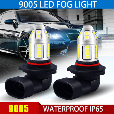 2X 9005 6000K White Cree 5630 Chip High Power LED Projector Fog Light Bulbs
