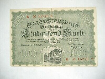Bad Kreuznach 1000 Mark 10.11.1922