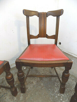 four,vintage,oak,Deco,wing back,dining chairs,drop in seats,sprung,chairs,dining