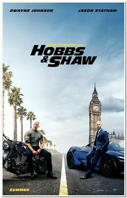 FAST AND FURIOUS 9:  HOBBS AND SHAW - 2019 - Original 27x40 ADVANCE Movie Poster