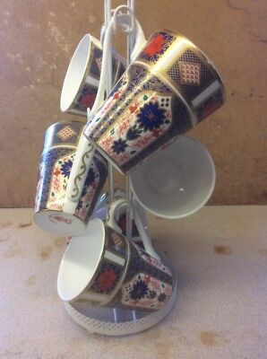 6 bone china mugs In A Imari Design