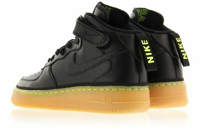 new arrival 20e4f 41765 NIKE AIR FORCE 1 MID  07 LV8 Black Gum GS 396606 100 TRAINERS UK 4.5