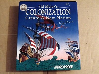 PC COLONIZATION SID MEIER'S COLONIZATION CREATE A NEW NATION Microprose 1999  (M
