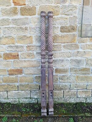 Pr Of Antique Mahogany Four Poster Bed posts