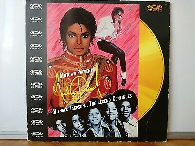 "Laserdisc Michael Jackson The Legend Continues 1988 UK 12"" Gold"