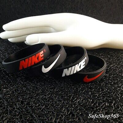 2pcs Silicone nike bracelet squishy rubber wristband football  boy/kid jewellery