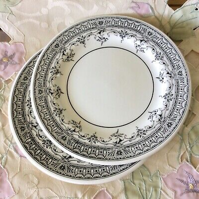 Two WedgeWood Plates in Black and White