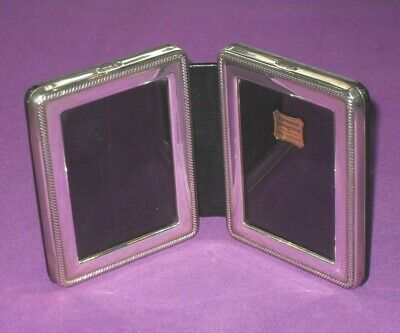 Hallmarked Birmingham 2007 Sterling Silver Double Photo Picture Frame