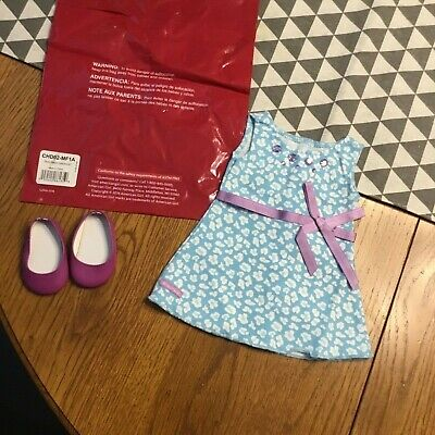 American Girl Teal Dress And Shoes Set New In Bag