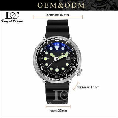 316L Stainless steel Vintage SterileTuna 200M Diver NH35A Automatic Dive watch