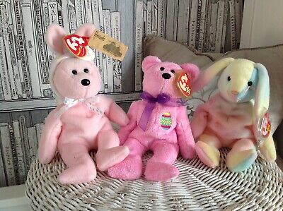 Ty Beanie Babies.  Easter . Eggs. Hippie. Bonnet. Nwtags. Retired.