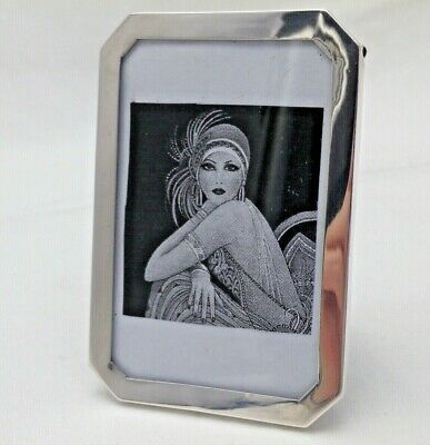 Art Deco Photo Photograph Solid Silver Frame 1920 (1097-B-KLY)