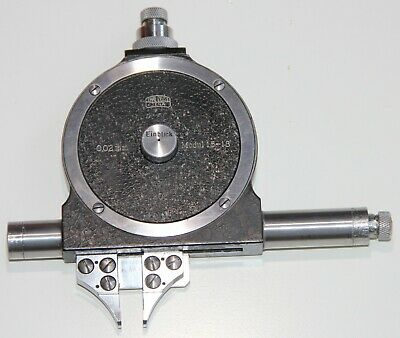 Carl Zeiss Optical Gear Tooth Micrometer Modul 1.5 - 18 mm (0.02 mm Accuracy)