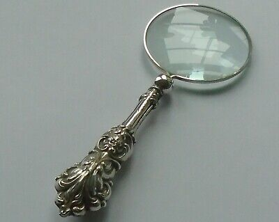 JC Plimpton & Co HM Silver Handle Magnifying Glass Birmingham 1930