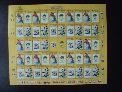 Indonesia (Mnh) Sheet 2010 Soccer World Cup South Africa