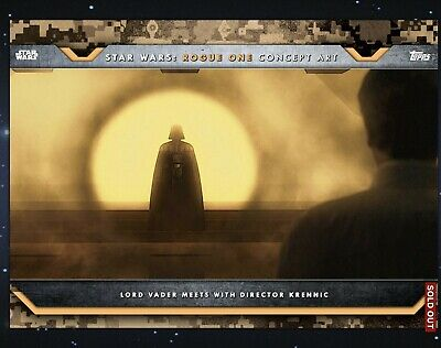Topps Star Wars Card Trader Rogue One Concept Art Wave VII Set of 15 with AWARDS