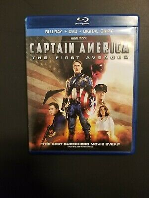 Captain America: The First Avenger (Blu-ray/DVD, 2011, 2-Disc Set, Includes Dig…