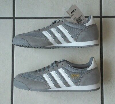 Adidas Dragon Original Mens Grey & White Trainers Size Uk 7 - New With Tags
