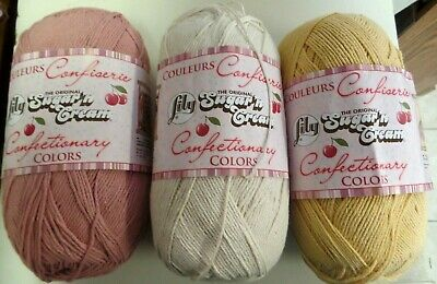 Yarn..sugar And Cream..14 Oz Skein..cotton.. 3 Colors To Choose From
