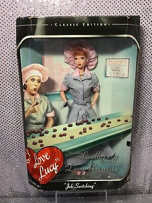 I Love Lucy Barbie Doll Episode 39 Job Switching 1998 Mattel 21268 Nrfb