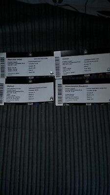 TICKET STUBS Newcastle United X 4 HOMES 2018_19 West ham,arsenal,Watford,wolves