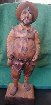 Vintage Wood Carved German Sancho Panza #a To Adopt Advanced Technology Carved Figures