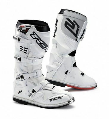 TCX Pro 2.1 Motocross Boots UK 7 US 8 EU 41 White Free and Fast UK Delivery NRA