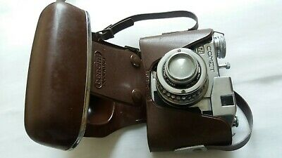 Bencini Comet Camera with original leather case - 1950s - working order