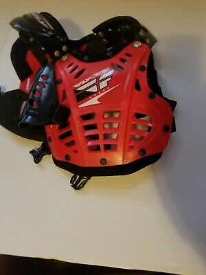 Fly Racing Chest Protector. Child small. Red and Black .