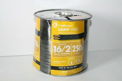 Southwire  16/2 SPT-2  300 volts Lamp Cord Wire  250 ft. Black Standed