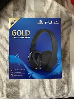Cuffie Gold Wireless Sony Playstation 4 2.0 Stereo Gioco Headset Videogames  Ps4 d1eda04643fe