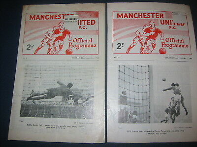 Manchester United Reserves V Wolverhampton Wanderers Wolves Reserves  1964/65