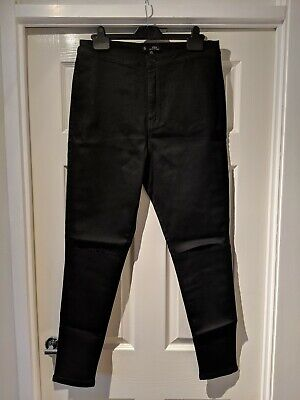 e54c4f9ffd8b6 Missguided Vice High Waisted Slash Knee Black Skinny Jeans Size 16 New With  Tags