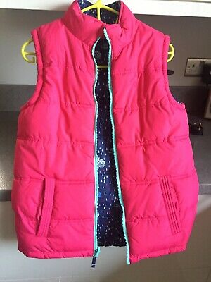 Fat face Gilet Body Warmer 12-13 Pink Reversible. Twice Worn Ex Cond.