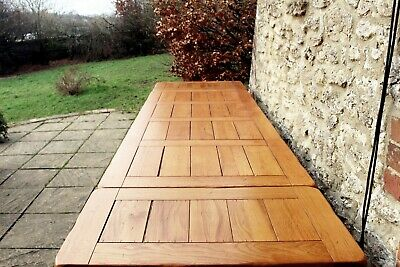 Fabulous 9.5 ft (290cm) Solid Oak French Plank Top Farmhouse Dining Table