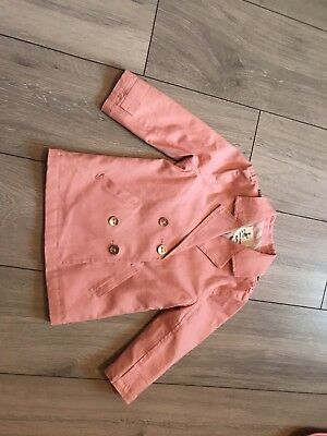 Girls River Island Trench Cost - Pink - 18-24 Months