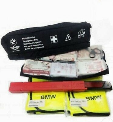 Bmw Mini Originale- Borsa Emergenza Kit> Pronto Soccorso - Triangolo - 2 Gillet