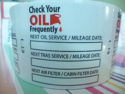 30+3 😲FREE Oil Change Clear Static Cling Reminder Stickers🔥Decals Fast Ship😍