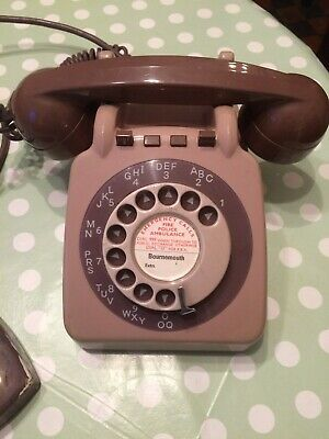 vintage/retro gpo dial telepone 710 planset extension phone B.T. post office