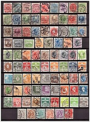 Denmark, nice small collection of old used stamps