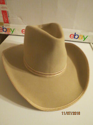 dc96d78ef5c Vintage John B. Stetson Western Cowboy Hat ~ 5X Beaver with Feathers ~ Size  7