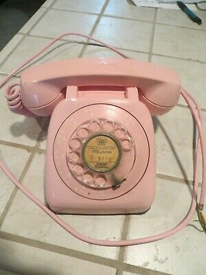 Vintage Automatic Electric Pink Rotary Telephone