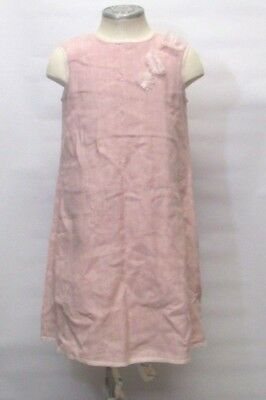 5f72ffa374e Bonpoint Girls Dress Pink 100% Linen Size 8 Wedding Flower Girl Party Formal