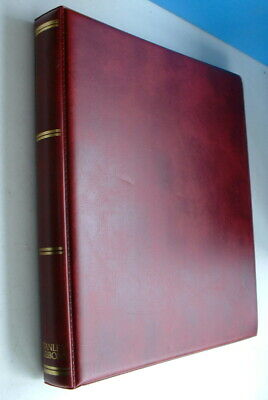 Unused Red Stanley Gibbons 22 Ring Stamp Album 3874 With Pages