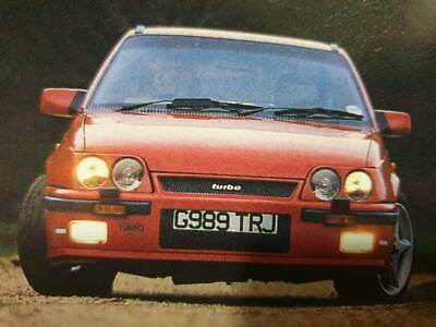 Vauxhall Astra mk2 GTE c20let turbo f28 6 speed project barn find
