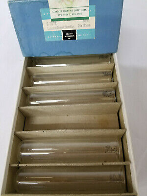 Vintage Coleman Selected Round Cuvettes 25x105mm Qty 11. #G-300B. NOS