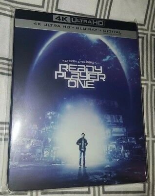Ready Player One Steelbook (4K UHD + Blu-Ray) w/ Protective Sleeve  VG